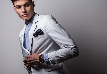 Elegant young handsome man  Studio fashion portrait   Stock Photo - 15575709