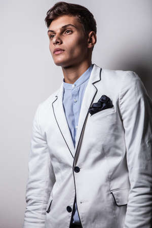 Elegant young handsome man  Studio fashion portrait Stock Photo - 15575535