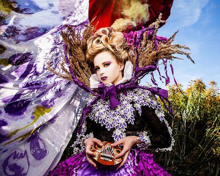 Dramatized image of sensual fashion girl - Art Fashion outdoor photo Stock Photo - 17021553