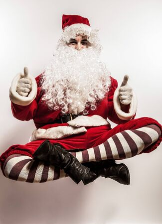 Flying Santa Claus Stock Photo - 16958198