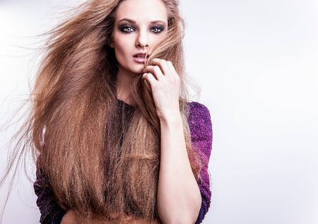 Photo of beautiful fashion woman with magnificent hair Stock Photo - 17059042