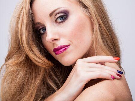 natural health and beauty: Salud belleza natural de un rostro de mujer Foto de archivo