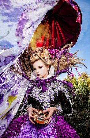 Dramatized image of sensual fashion girl - Art Fashion outdoor photo Stock Photo - 17060558