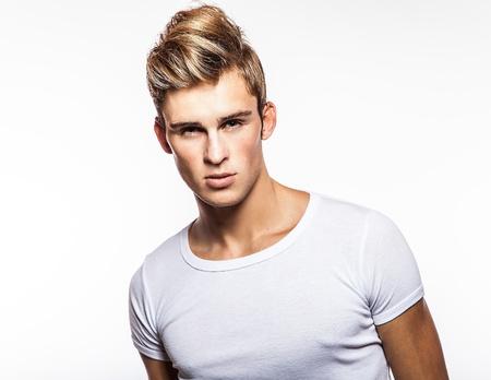 Elegant young handsome man  Studio fashion portrait   photo