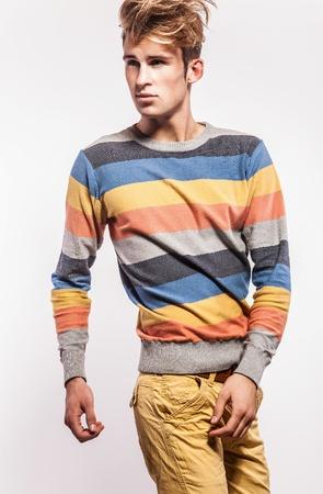 Elegant young handsome man  Studio fashion portrait Stock Photo - 17058303