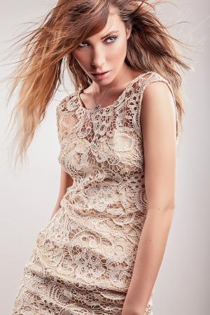 Young sensual model girl pose in studio Stock Photo - 17130120