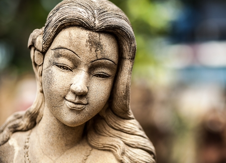 Traditional stone asian statue