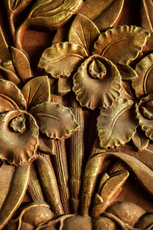 bust up: Traditional art carving on a stone