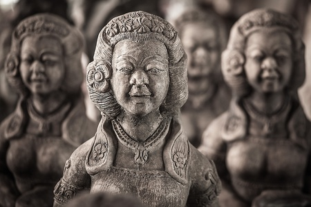 Traditional stone asian statues  photo