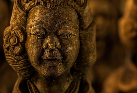 Traditional stone asian statue  photo