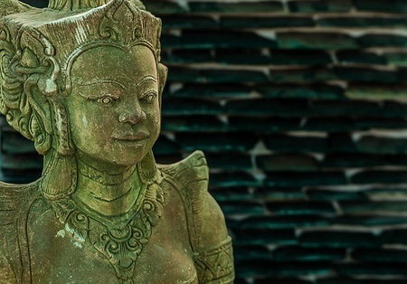 Traditional Asian statue from a stone