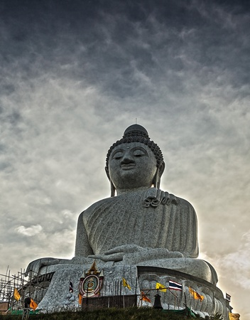 marmorate: Marble statue of Big Buddha in Phuket