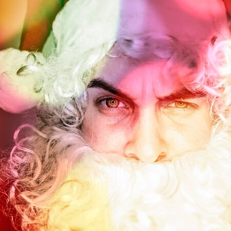 Multicolored digital painted image portrait of Santa Claus  Stock Photo - 19302654