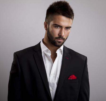 Légant portrait de jeune homme beau Studio de mode Banque d'images - 24368209