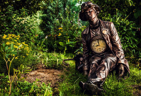 watchmaker: Image of watchmaker in bright fantasy stylization  Outdoor fairy tale art photo