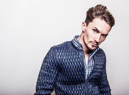 fashion design: Elegant young handsome man.