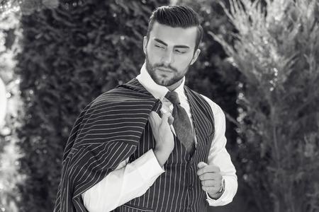Young european fashionable man Stok Fotoğraf