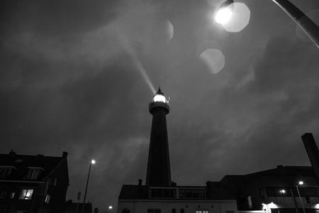 'the hague': HAGUE, NETHERLANDS - OCTOBER 18: Hoge vuurtoren van IJmuiden Lighthouse. IJmuiden, The Hague, Netherlands.