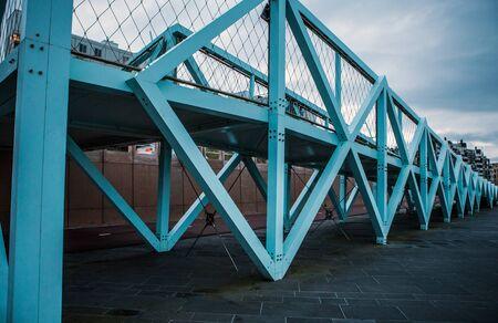 'the hague': Modern Bridge near city beach in Hague, evening time. Editorial