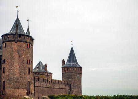 noord: Muiderslot Muiden castle in Muiden, Noord-Holland, The Netherlands. Editorial