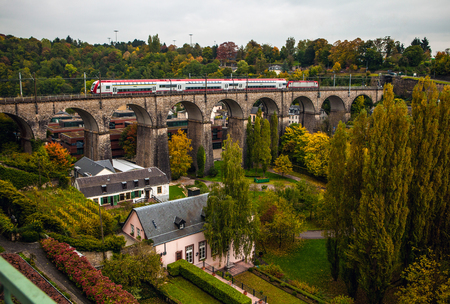 viaduct: Passerelle bridge or Luxembourg Viaduct.