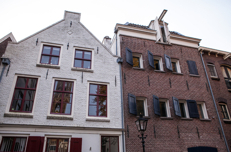 dutch typical: Traditional European architecture. Utrecht - Holland.