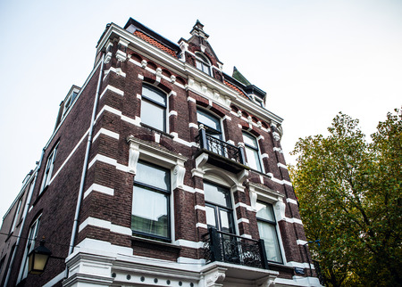 utrecht: NETHERLANDS, UTRECHT - OCTOBER 25, 2015: Traditional European architecture. Utrecht - Holland.