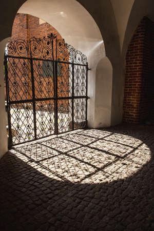 metal gate: Ancient metal gate. Editorial