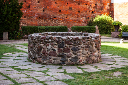 water town: Old traditional Water Well structure.