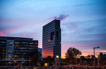 utrecht: Modern city architecture. Utrecht - Holland.
