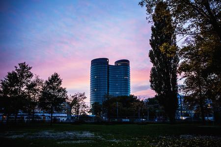 utrecht: NETHERLANDS, UTRECHT - OCTOBER 25, 2015: Modern city architecture. Utrecht - Holland.
