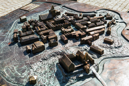 Project of medieval building in metal. Olsztyn - Poland. Redakční
