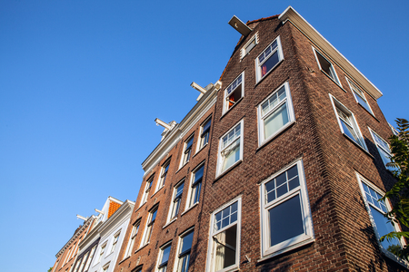 netherland: Traditional house close-up. Amsterdam - Netherland.