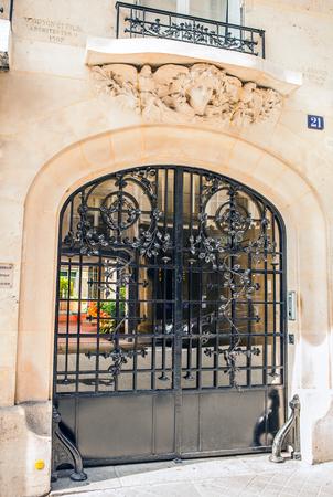 metal gate: Ancient metal gate. Stock Photo