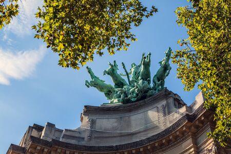 french renaissance: PARIS, FRANCE - AUGUST 30, 2015: Famous Grand Palais in Paris. Editorial