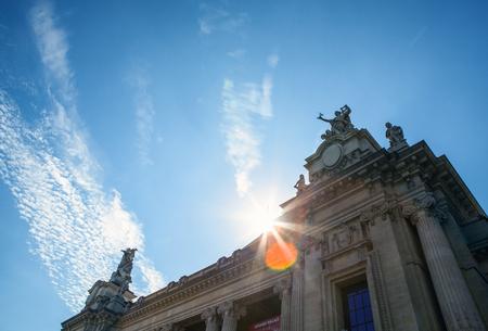 french renaissance: PARIS, FRANCE - AUGUST 30, 2015: Famous Grand Palais (Big Palace) in Paris. Editorial