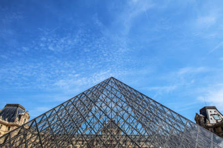 national historic site: PARIS, FRANCE - 02 SEPTEMBER, 2015: Building of Louvre in Paris, France.The museum is one of the worlds largest museums and a historic monument. A central landmark of Paris. Editorial