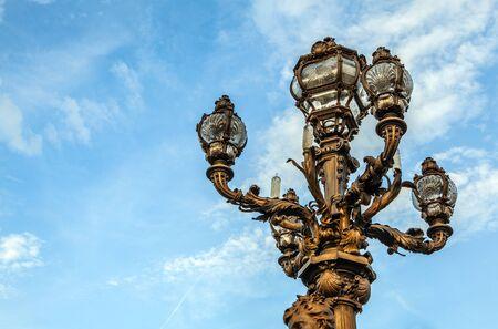 alexander: Bronze lamps on Alexander III Bridge.