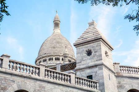 coeur: Basilica Sacre Coeur in Montmartre in Paris, France.