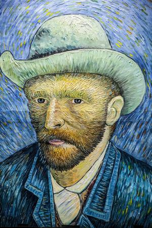 AMSTERDAM, PAYS-BAS - 10 janvier 2016: Van Gogh dessin sur le mur de la rue le 10 Janvier 2010 à Amsterdam - Pays-Bas. Banque d'images - 52321309