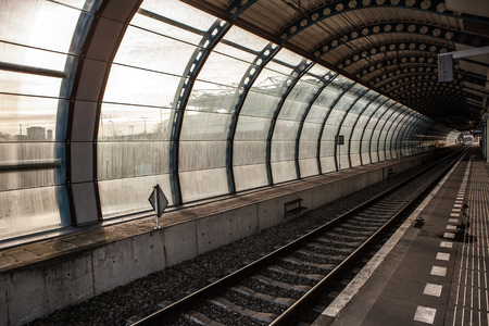 railway transportation: Railway or railroad tracks for train transportation.