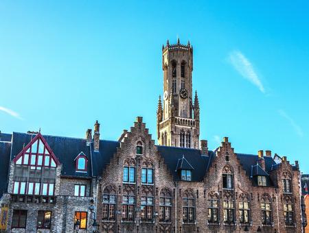 belfort: Belfort tower in Bruges, touristic center in Flanders city of Brugge