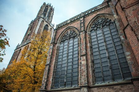 utrecht: Ancient European church. Utrecht - Holland.