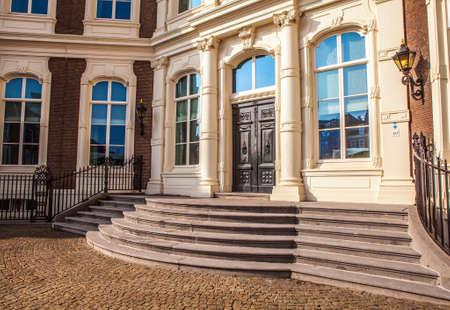den: Architecture of modern Hague (Den Haag) city center. Netherlands.