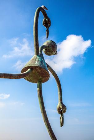 sculptor: HAGUE, NETHERLANDS - MARCH 8, 2016: Sculpture garden in Scheveningen called SprookjesBeel den aan Zee (Fairytale Sculptures by Sea). 23 cartoon like sculptures by American sculptor Tom Otterness.