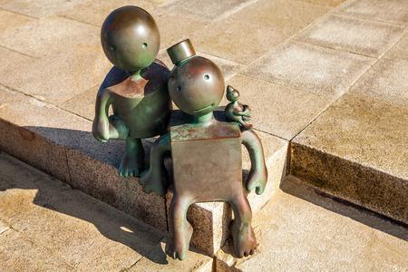 HAGUE, NETHERLANDS - MARCH 8, 2016: Sculpture garden in Scheveningen called SprookjesBeel den aan Zee (Fairytale Sculptures by Sea). 23 cartoon like sculptures by American sculptor Tom Otterness.