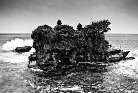 blackwhite: Amazing tropical landscape. Indonesia - Bali. Black-white photo. Stock Photo
