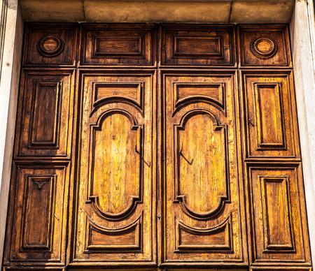 venetian: Ancient Venetian wooden door.