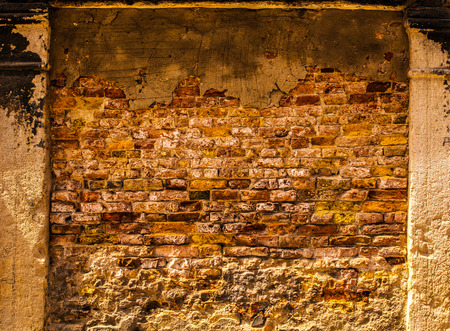 ancient brick wall: Ancient brick wall as background.