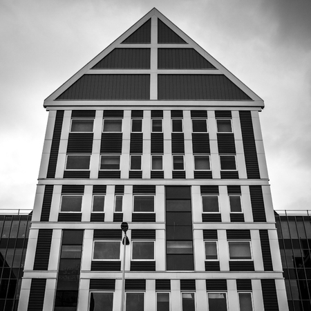 zaan: ZAANDAM, NETHERLANDS - JUNE 13, 2016: General landscape views in traditional architecture of Zaan region at twilight on 13 June in Zaandam, Holland.
